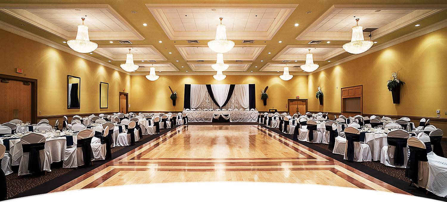 Grand Hall of St George Banquet Hall with hardwood floor