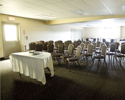 theater style setup in the meeting room with chairs